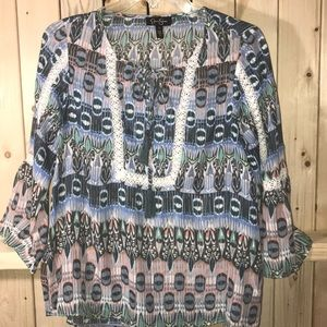 Jessica Simpson sheer blouse small